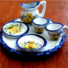 Miniature hand painted china, Doll's house accessories